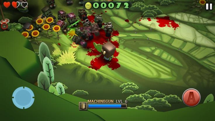 Minigore 2, zombie survival game, iOS