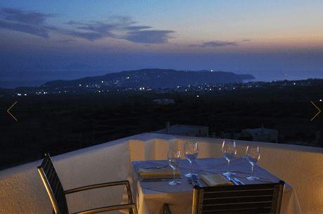 view from the selene restaurant in santorini