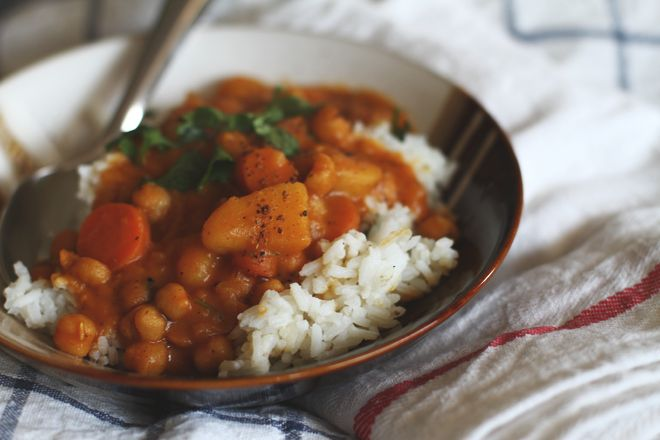 CHICKPEA, POTATO, AND CARROT CURRY | veggie deliciousness | Pinterest