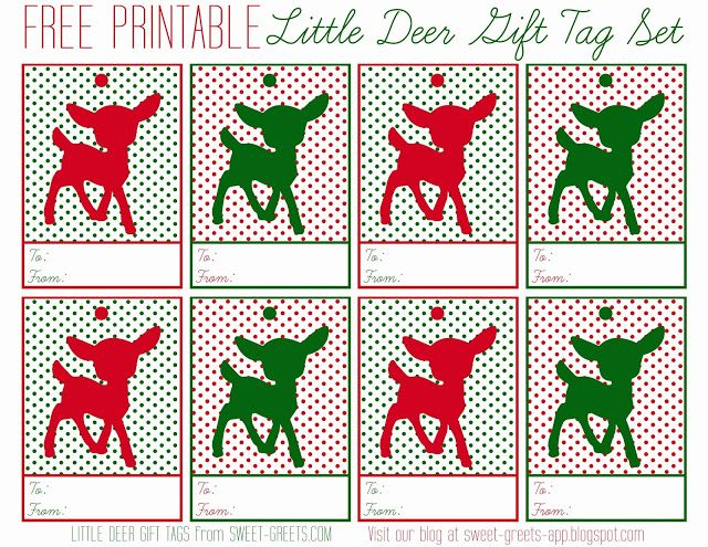 Free Printable Little Deer Gift Tag Set