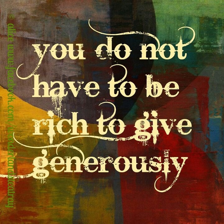 GENEROUS PEOPLE Quotes Like Success