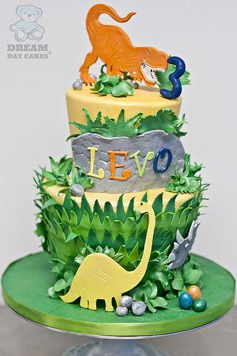 Dinosaur Birthday Cake  Childrens Birthday Cakes  Pinterest