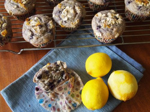 sugar free gluten free blueberry lemon muffins
