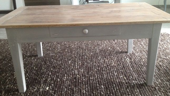 Table basse de salon apr s relooking so homemade pinterest - Relooker une table de salon ...