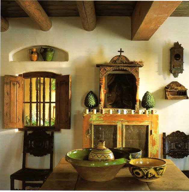 Mexican style home pinterest for Spanish style interior shutters