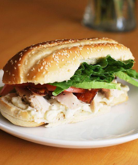 Chicken Cobb Sandwich- like Claim Jumper- Grilled chicken, smoked ...