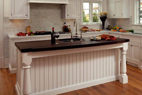Wood and marble counters