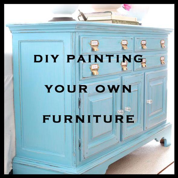 Diy Painting Furniture Painted Furniture Pinterest