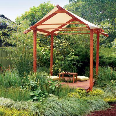 Backyard teahouse