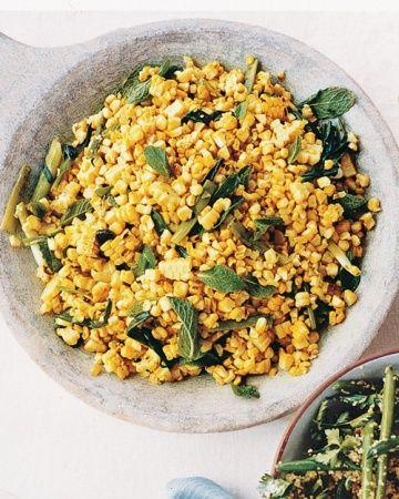 Grilled Corn, Mint, and Scallion Salad | Celebrate! | Pinterest