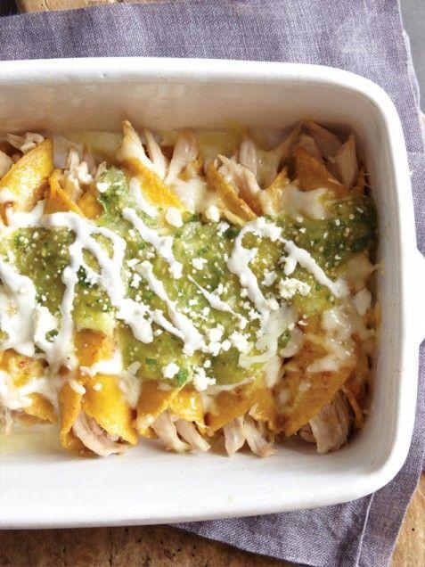 Chicken and Cheese Enchiladas with Salsa Verde | Recipe