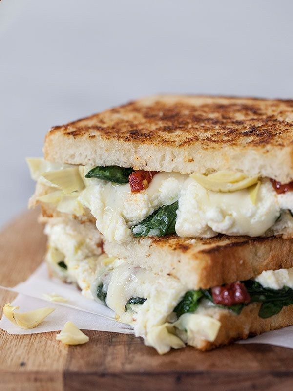 Artichoke and spinach grilled cheese sandwich recipe More pictures ...