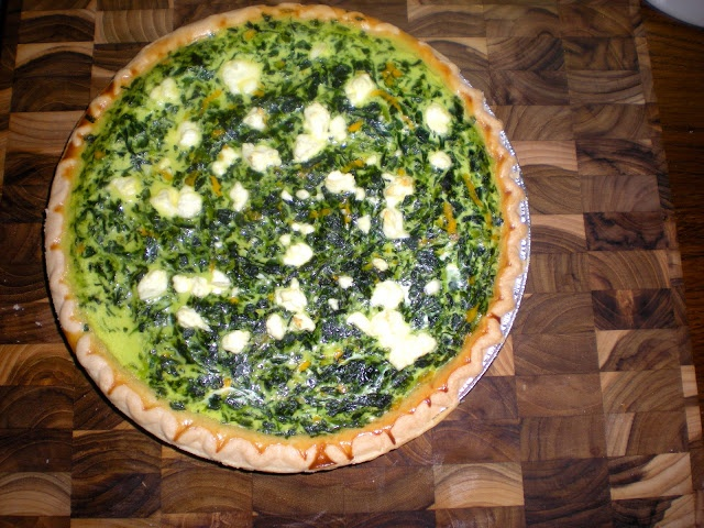 Create.Bake.Celebrate: {bake} Spinach & Goat Cheese Quiche
