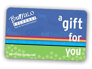 Buffalo Exchange gift cards. Not the usual thrift store! Vintage