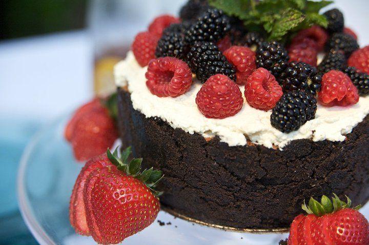 Chocolate Mousse Cake w/ Fresh Berries | nom nom nom | Pinterest