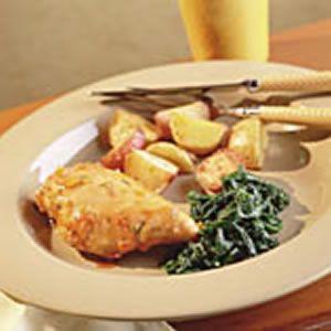 Orange Rosemary Glazed Chicken from EatingWell Magazine