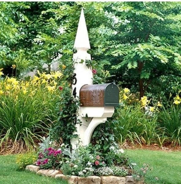 Mailbox garden garden pinterest for Boxed garden designs