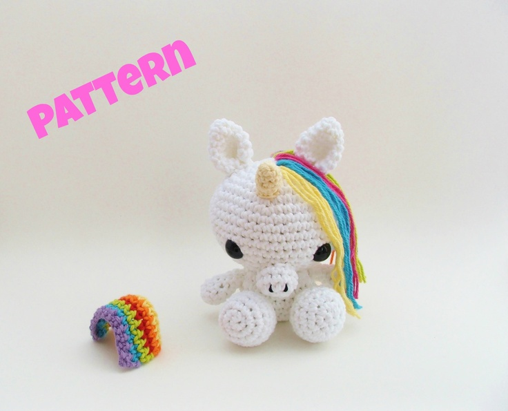 Crochet Unicorn Pattern : Crochet Easter Pattern / Unicorn Pattern / Amigurumi Unicorn / Crochet ...