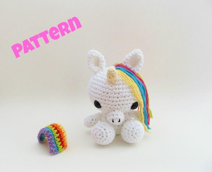 Crochet Easter Pattern / Unicorn Pattern / Amigurumi Unicorn / Crochet ...