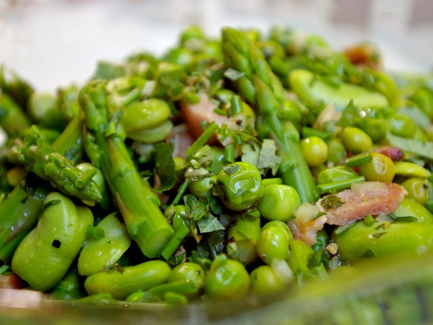 """Salad"""".. The season's most prized ingredients — fava beans, peas ..."""