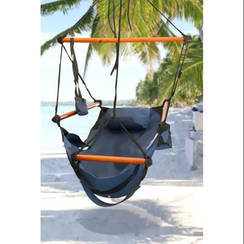 Hammock hanging chair air deluxe sky swing outdoor chair solid wood 2 - Choosing a hammock chair for your backyard ...