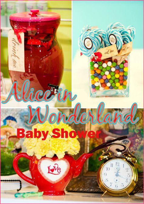 alice in wonderland baby shower shower pinterest
