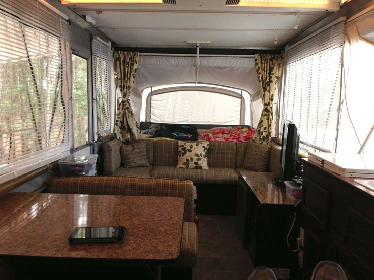 Pin by nathaniel campbell on camping and backpacking for Pop up camper interior designs