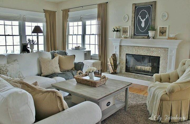 Cozy Family Room Needs A TV Over The Mantel
