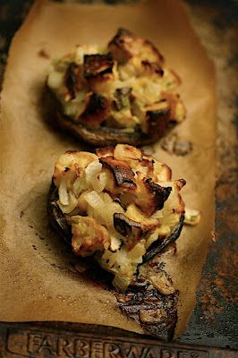 Portobello Mushrooms with Parmesan-Herb Stuffing