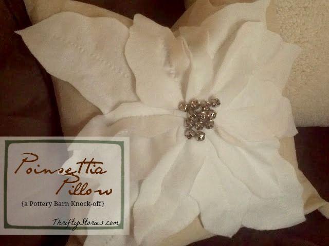 PB Inspired Poinsettia Pillow