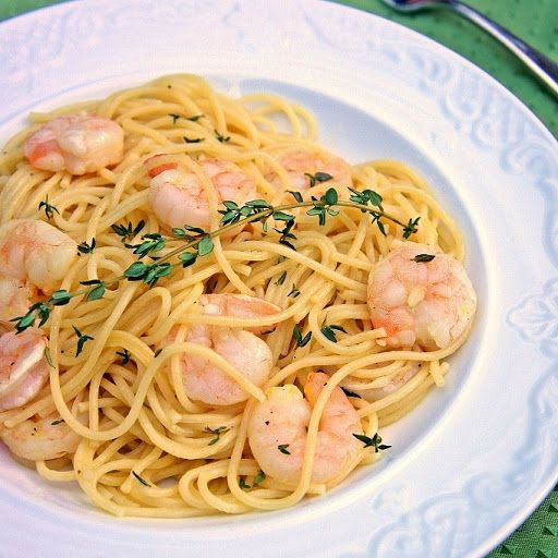 Roasted Lemon Garlic & Herb Shrimp Pasta | Fish & Seafood | Pinterest