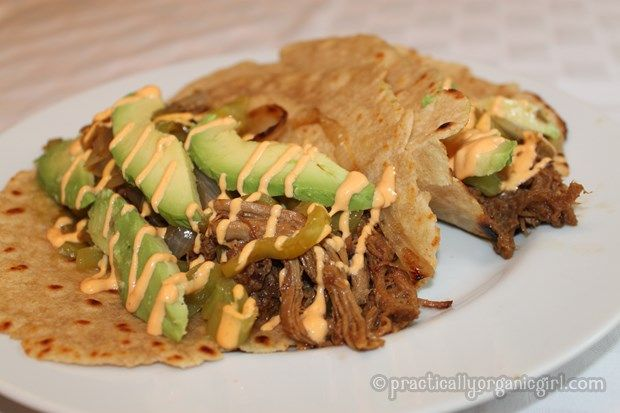 Pulled Pork Tacos with Avocado and Spicy Mayo > Practically Organic ...