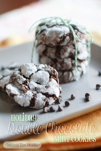 Double Chocolate Mint Holiday Cookies | Christmas | Pinterest