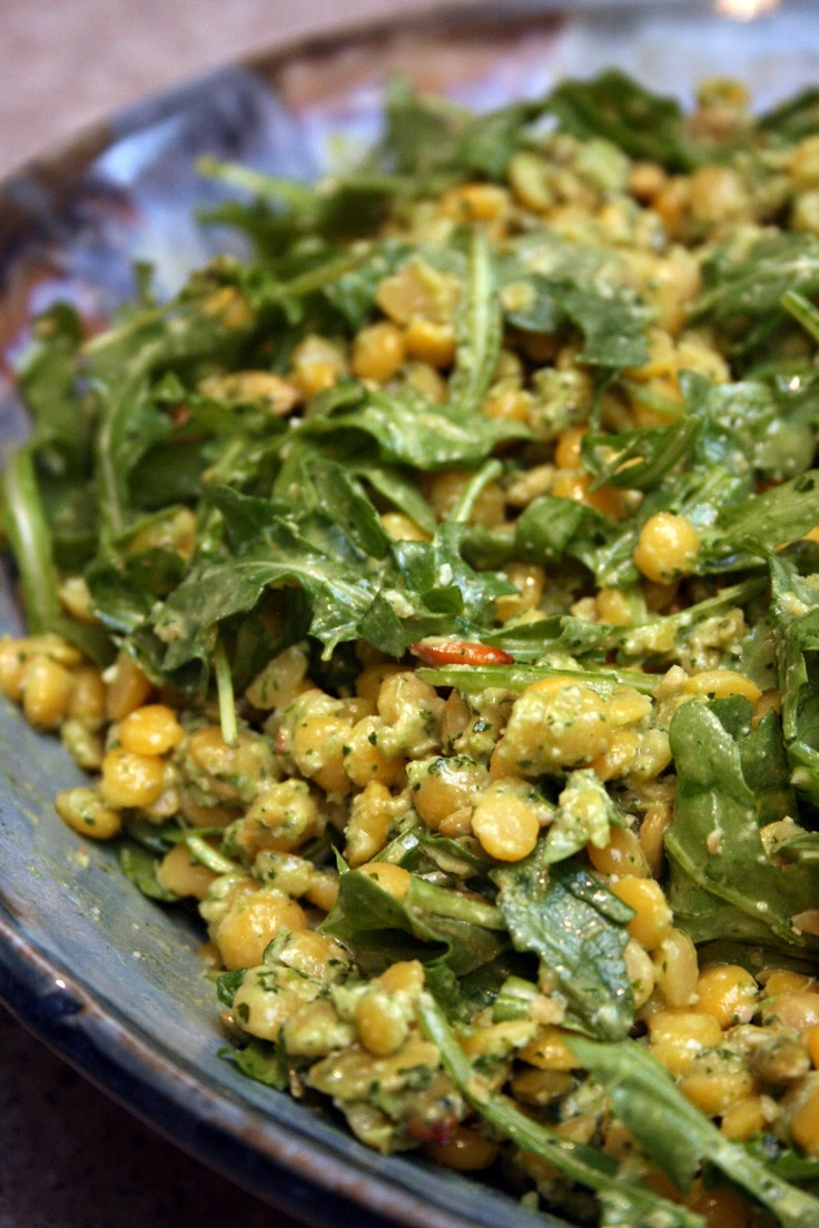 Yellow Split Pea And Mango Salad Recipe — Dishmaps
