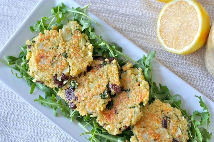 Lemon, Kalamata Olive, and Parsley Quinoa Patties