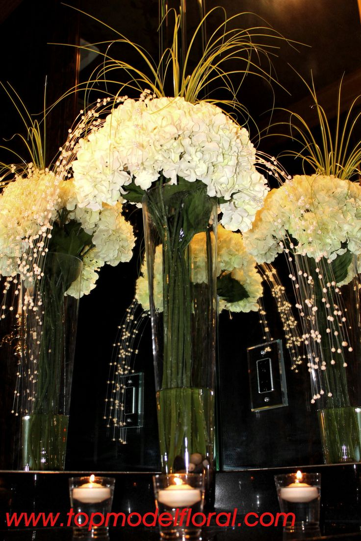 Art deco table flowers great gatsby vintage glamour for Art deco flowers