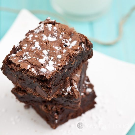 chewy brownies - Triple Chocolate Chews - add walnuts