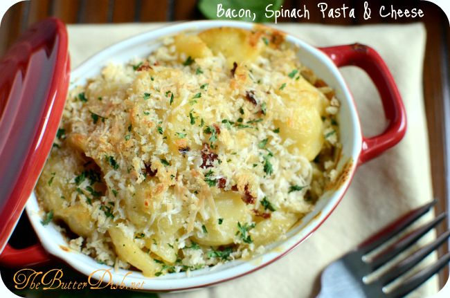 Bacon/Spinach Pasta and Cheese | Not-So-Lean Recipes | Pinterest