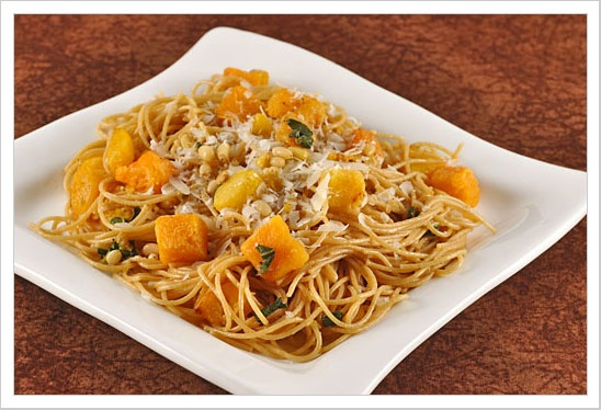 Spaghetti with Butternut Squash, Pine Nuts and Sage | Recipe