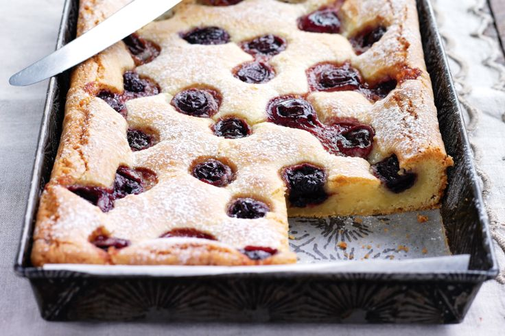 Cherry Blondies - These are AMAZING!! Make the most of summer's ...