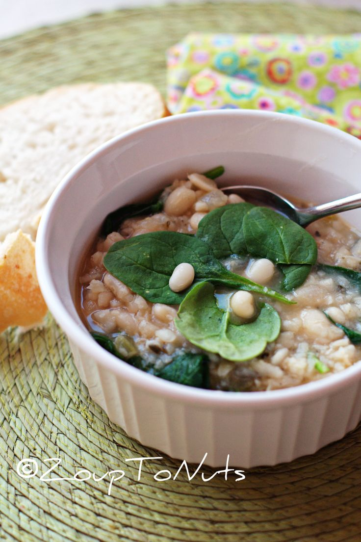 Spinach And Leek White Bean Soup Recipes — Dishmaps