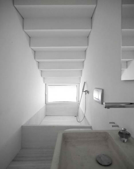 Powder room under staircase bathroom pinterest for Small bathroom under stairs