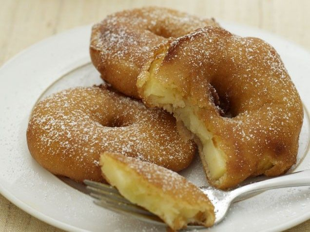 Portuguese Apple Fritters - A light and crispy coating cradles anise ...
