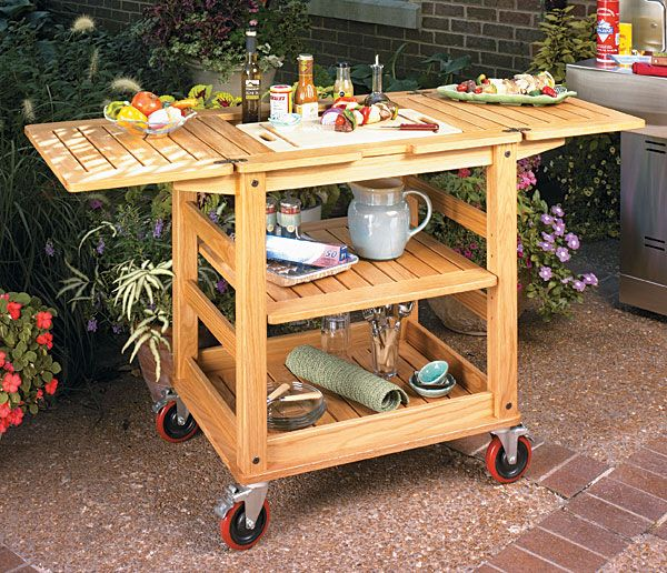 Wooden Patio Serving Carts ~ Patio serving cart woodworking plan wood working plans