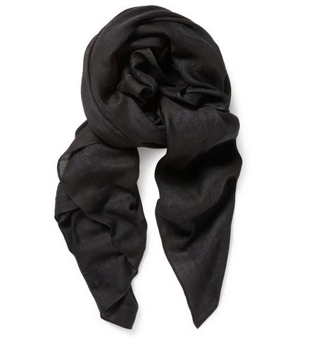 Alexander McQueen - Skull Emblem Wool Blend Scarf