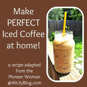 Make Perfect Iced Coffee at home!! now if it will just get hot enough ...