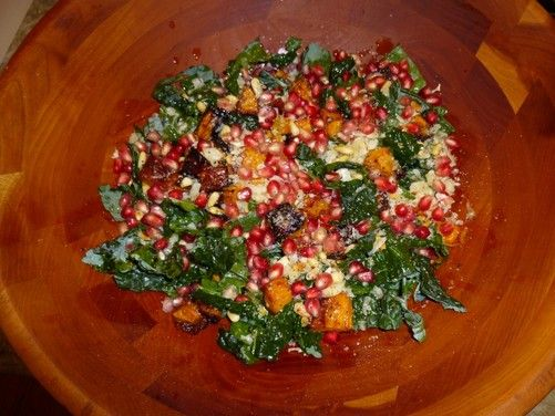 Kale Salad with Squash, Pomegranate, and Pine Nuts, a recipe on Food52