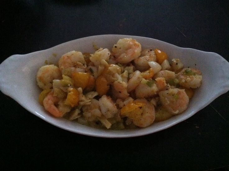 Sauteed Shrimp With Onions And Cherry Tomatoes Recipe — Dishmaps