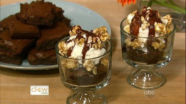 Dark Chocolate Brownies, Ginger Ice Cream & Salted Butter Caramel ...