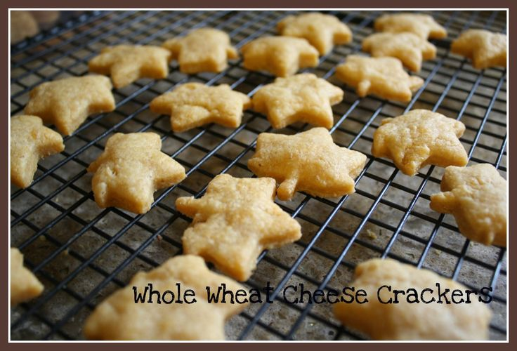 bye store bought goldfish and hello Whole Wheat Cheese Snack Crackers ...